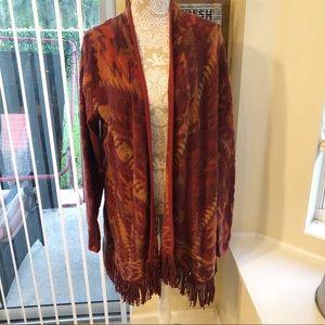 Lucky Brand | Fringed Brushed Knit Cardigan LG